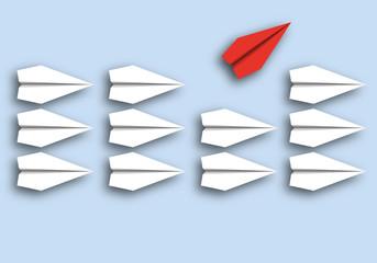 origami - concept - idée - rebelle - révolte - symbole - avion de papier - opposé - révolution