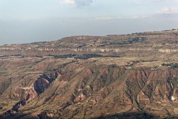 Landscape in the Ethiopia near Debre Libanos.