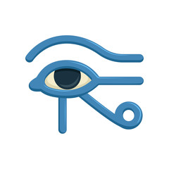Eye of Horus Egypt Deity, eye of Ra, antique Egyptian hieroglyphic mystical sign, symbol of ancient Egypt, vector Illustration