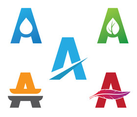 letter a logo vector package