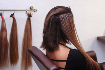 hair extension in a hairdresser's