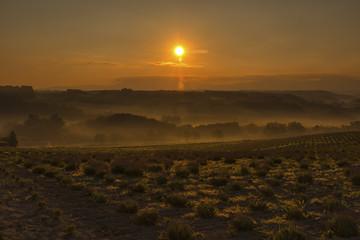 深山峠の朝