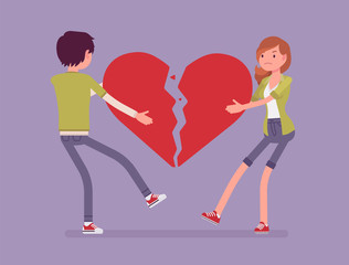 Lovers broken heart