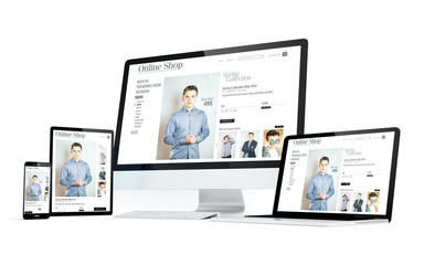 mobility devices white screen online shop responsive design