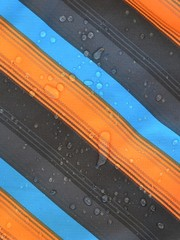 Water drops on softshell fabric