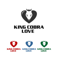king cobra, cute and strong icon for company
