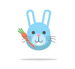 rabbit cute head character