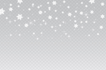 Winter background with snowflakes, isolated vector illustration