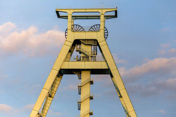mining tower ruhrgebiet germany