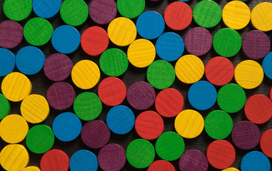 multicolored, wooden, game chips