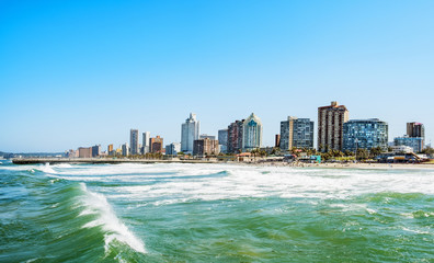 Foto op Canvas Zuid Afrika durban skyline waterside