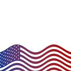 united states of america flag national symbol border vector illustration