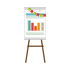 paperboard with statistics icon