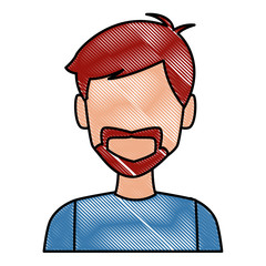 Man face cartoon icon vector illustration graphic design