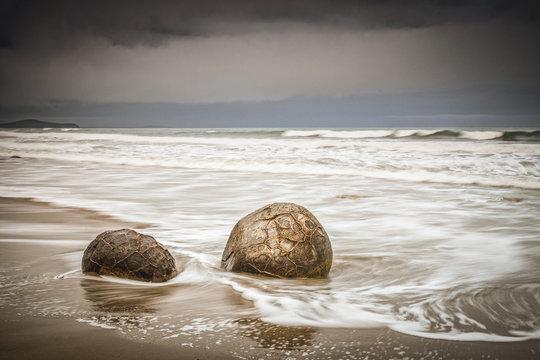 Moeraki Boulders and Waves