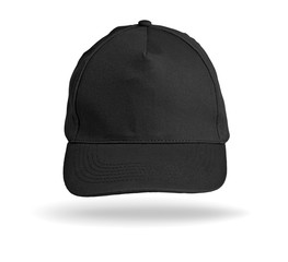 Black Baseball Cap on a white background.