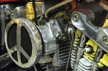 Superbike engine or motorcycle with high horse power engine. Huge engine give high capasity power to the motorcycle.