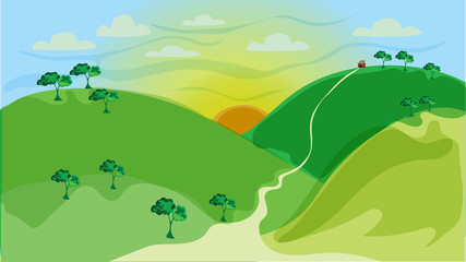 Mountainous background