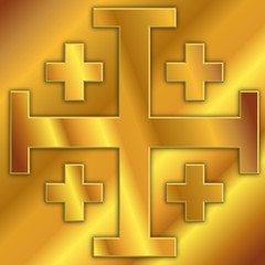 cross of jerusalem, vector graphic design, illustration