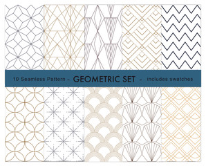 10 geometric pattern  swatches included
