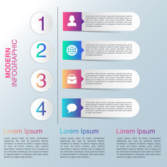 Infographic design on the grey background