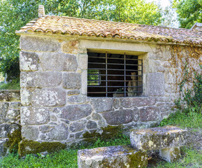 "Small granite sanctuary located on the hill called ""La Espenuca"" in Galicia (Spain)."