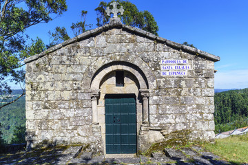 "Small stone parish called ""Santa Eulalia de la Espenuca"" located on the hill called ""La Espenuca"" in Galicia (Spain)."