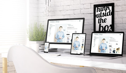 Devices collection workplace with online shop