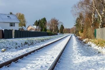 snow-covered railway