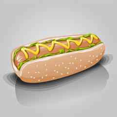 hot dog on gray