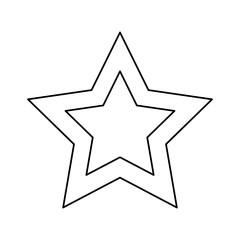 video game star element interface vector illustration outline image