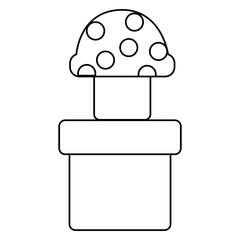 video game mushroom tube design element vector illustration outline image