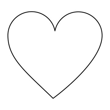 video game heart life icon vector illustration outline image