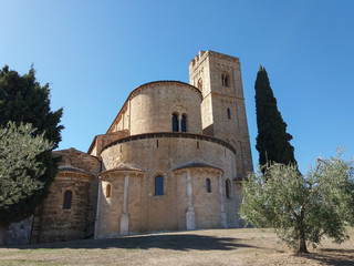 Sant Antimo abbey in Montalcino