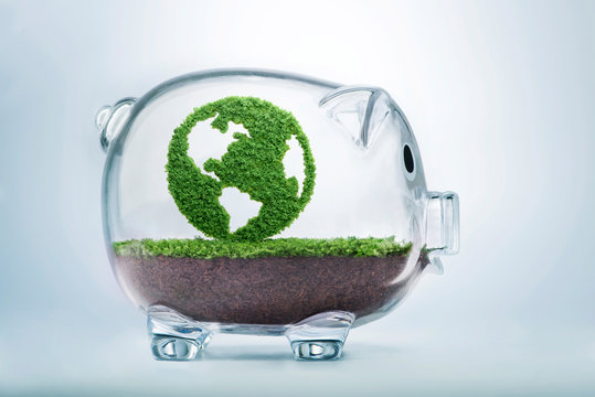Growing clean eco planet Earth fund concept