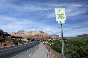 The highway leading into town in Sedona