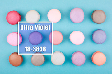 Group of Ultra Violet macarons