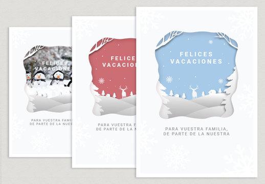 Diseño de tarjeta cuarteada de papel de fiestas