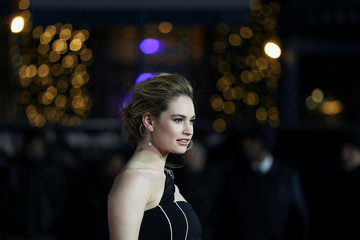 Actor Lily James arrives at the UK premiere of Darkest Hour in London
