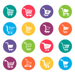 Shopping Cart Icons Design Elements Illustration