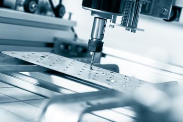 CNC milling machine working, Cutting metalwork process. Milling machine working on steel detail.