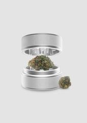 Medical Cannabis - Marijuana Herb Grinder - Isolated