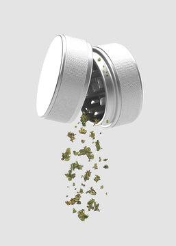 Medical Cannabis - Marijuana Herb Grinder - Isolated
