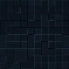 Background or seamless pattern of square tiles in different shades of dark blue colors
