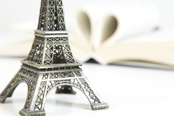 Eiffel tower with book
