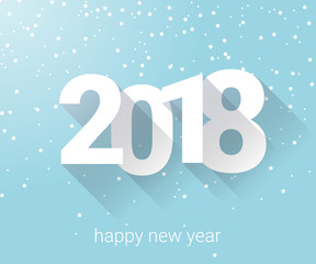 2018 - Bonne année neige - happy new year snowflake - background