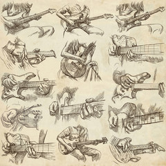 an hand drawn collection, full sized pack - GUITAR SOLO