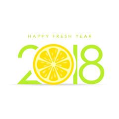 Happy fresh 2018 new year greeting card