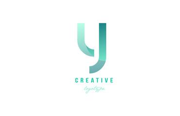 y green pastel gradient alphabet letter logo icon design