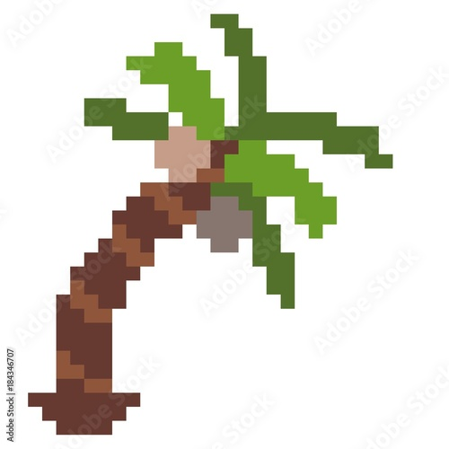 Palm Tree Pixel Art Stock Photo And Royalty Free Images On Fotolia